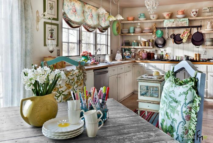 декор, кухня, шторы