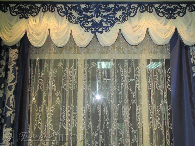 Ажурные ламбрекены - элемент декорирования штор