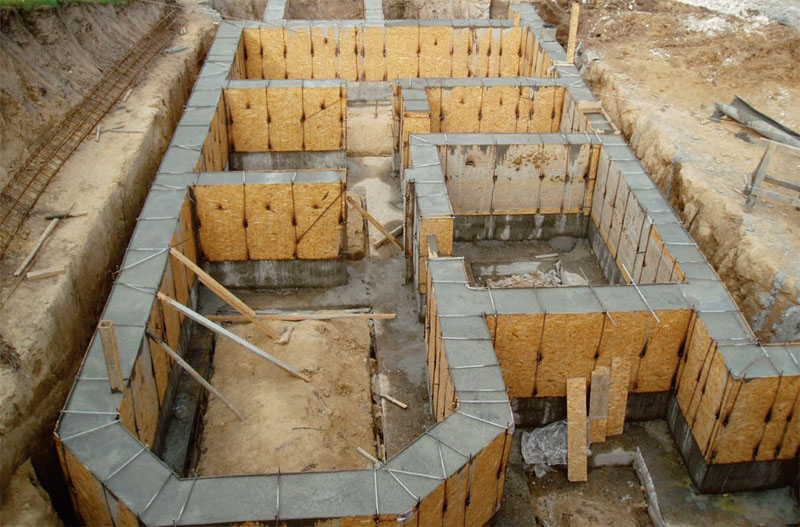 постройка, бетон, опалубка