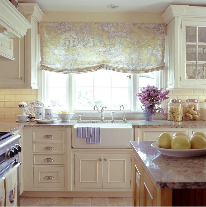 Оформление окна в стиле прованс