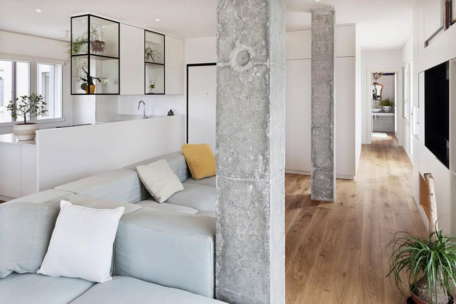 Дизайн с применением бетона