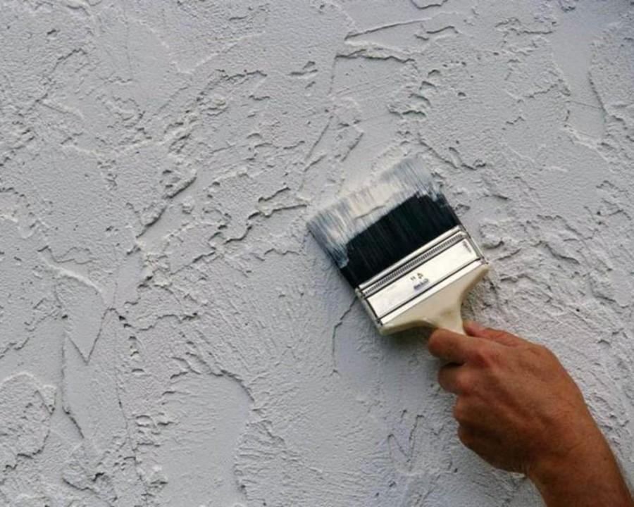 Фактурные краски для стен – нанесение, плюсы и минусы