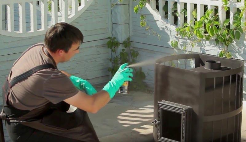 Где и как использовать термостойкую краску